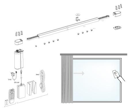 Rail éléctrique Louvers - Modèle Tandem