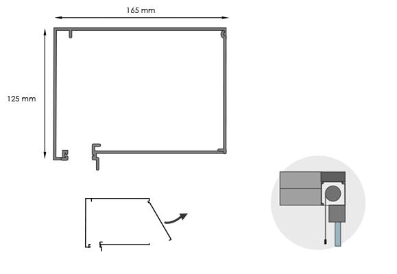 Screens encastrables monobloc