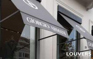 commerciale uitvalscherm Louvers