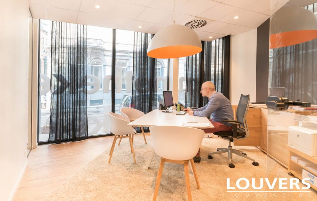 voiles rideaux bureaux pour les professionnels Anvers Bruxelles