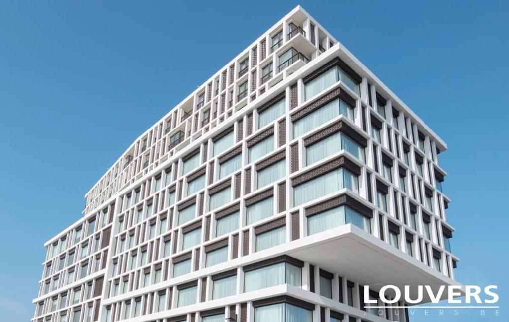 rideau et voiles Louvers hotel Radisson Bruges