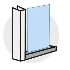 Screens classiques Louvers - Guidage latéral