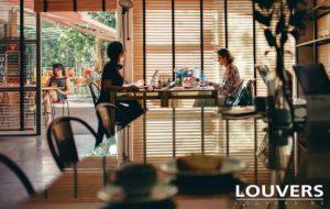 Horizontale jaloezieën houten lamellen Louvers