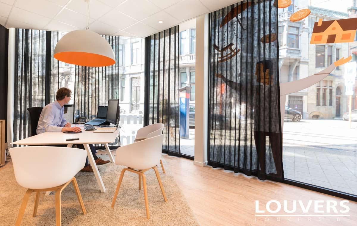 voiles tentures bureaux b2b bruxelles Anvers