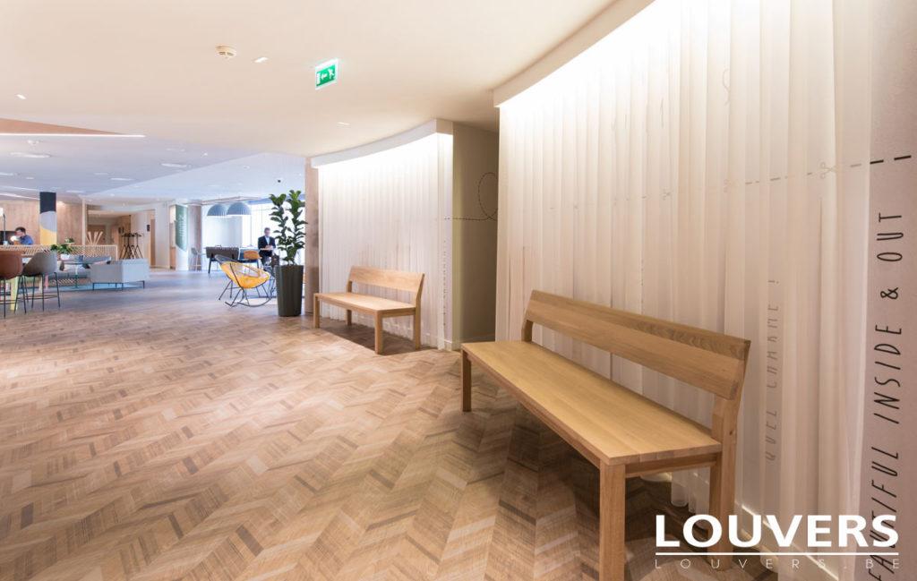 hotel voile voilage décoratifs Louvers